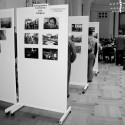 """The refugee protest – A photography exhibition"". Migrationspolitischr Empfang B90/Grüne."