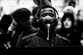 Refugees demonstrieren in Berlin in Gedenken an die Opfer von Lampedusa